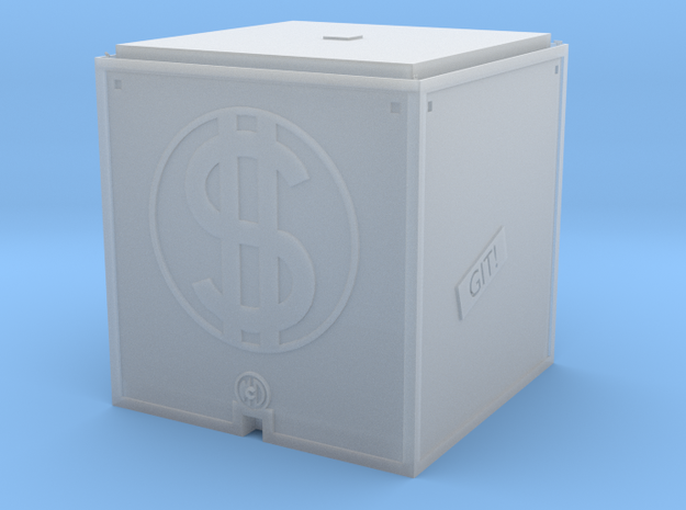 Money Bin in Smooth Fine Detail Plastic