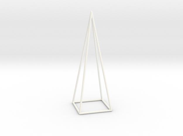Pyramis Laterata Quadrangula Vacua in White Processed Versatile Plastic