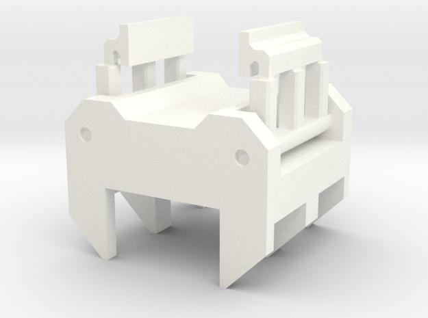 Brakes bloc small in White Processed Versatile Plastic