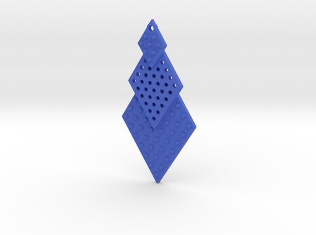 Post Earrings in Blue Processed Versatile Plastic
