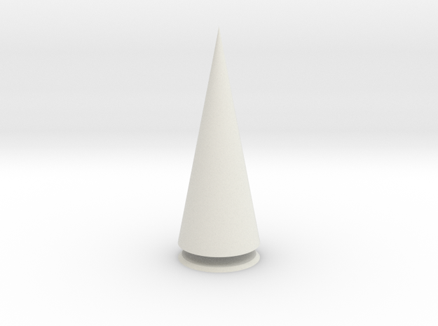 Pyramis Rotunda Solida in White Strong & Flexible