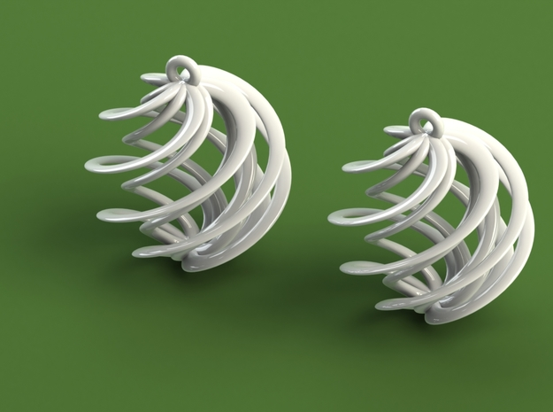 Swirly Earrings in White Strong & Flexible