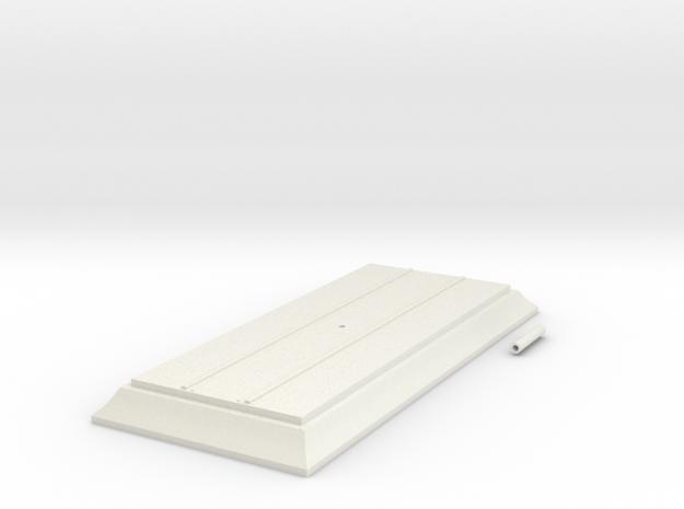 Base 140mm HO in White Natural Versatile Plastic