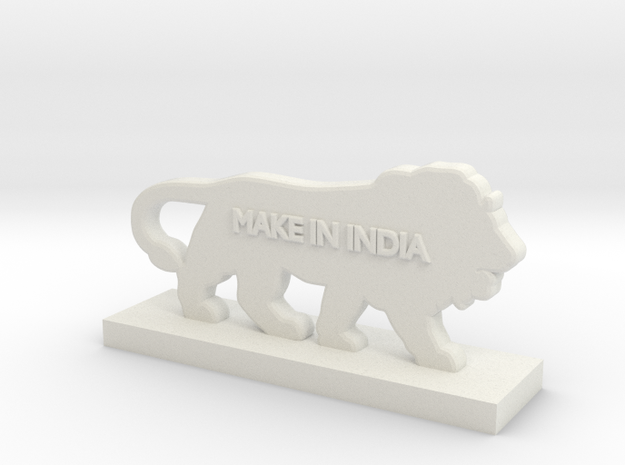 Logo MakeInIndia in White Strong & Flexible