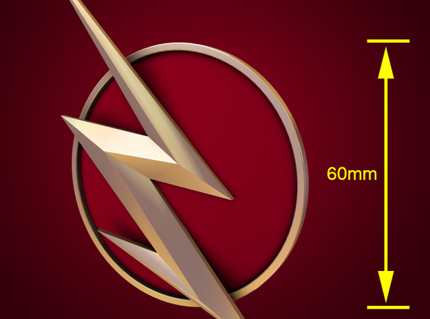 The Flash - Right Ear Bolt (TV Flash) -60mm in White Natural Versatile Plastic