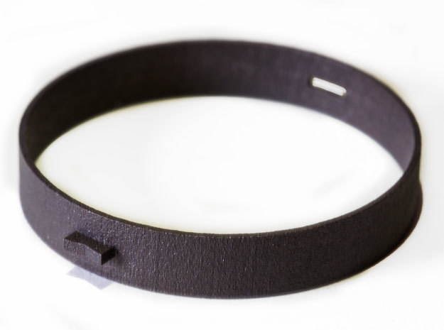 Blackmetal Bracelet in Matte Black Steel: Medium