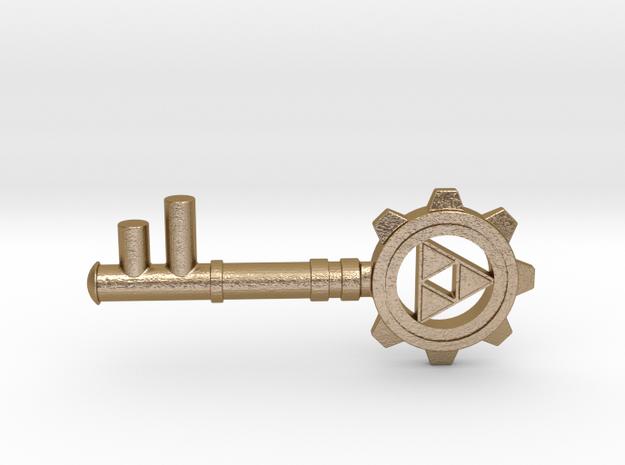 Zelda Dungeon Key in Polished Gold Steel