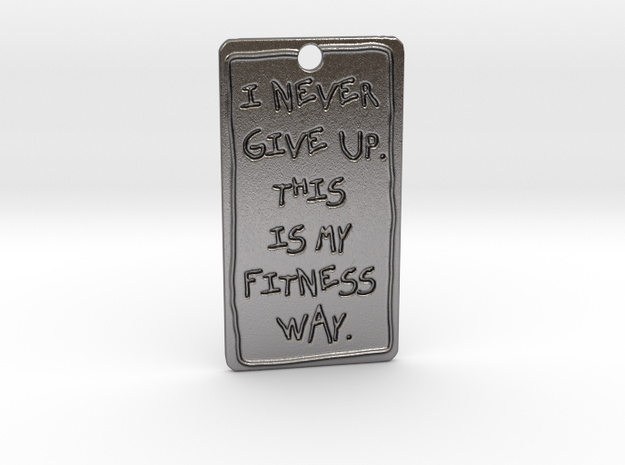my fitness way in Polished Nickel Steel