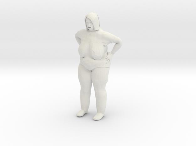 Fatlady 1/24 in White Natural Versatile Plastic