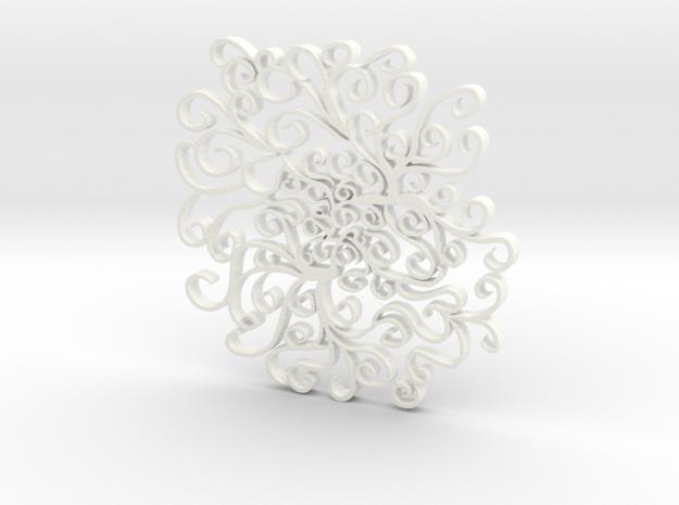 Peaceful Curvature in White Processed Versatile Plastic