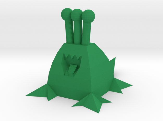 Polygonal Alien (Plain) in Green Processed Versatile Plastic