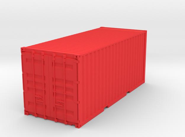 Container 115mm in Red Processed Versatile Plastic