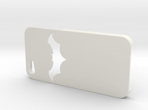 Batman Design Iphone 5   in White Strong & Flexible