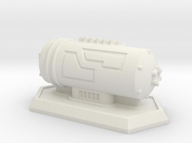 Small Storage Tank in White Natural Versatile Plastic