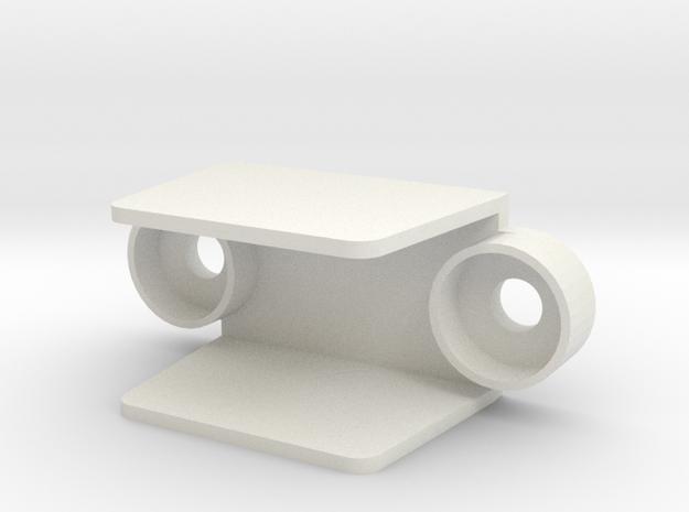 Small Pinball Lane Guide in White Natural Versatile Plastic