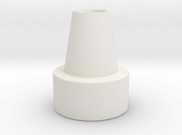 Comlink Mic Revision in White Natural Versatile Plastic