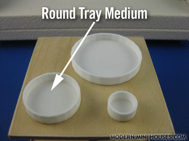 Round Tray Meduim 1:12 scale 3d printed