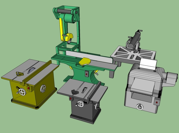 Woodworking Machinery 1-87 in Smooth Fine Detail Plastic