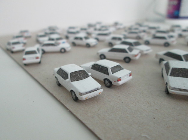 n scale 1984-1987 toyota corolla 5 pack in Smooth Fine Detail Plastic