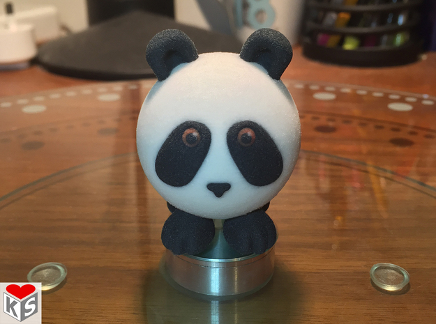 Ball Panda (Solid, 5cm) in Full Color Sandstone