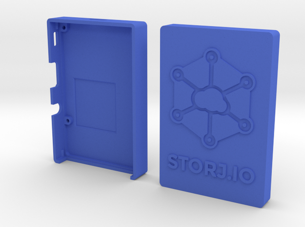 Case for Rasperry Pi 2 or B+ with Storj logo in Blue Strong & Flexible Polished