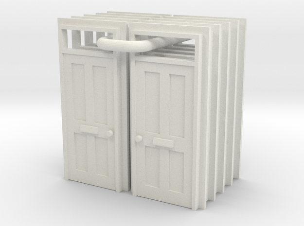 Type 15 Doors X  10 - 4mm in White Natural Versatile Plastic
