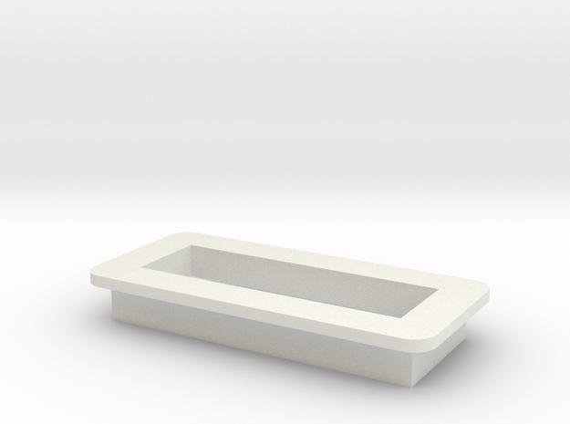 DNA Large Screen Bezel/Cradle - v1 in White Natural Versatile Plastic