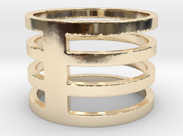 My Awesome Ring Design Ring Size 8.25 in 14K Yellow Gold