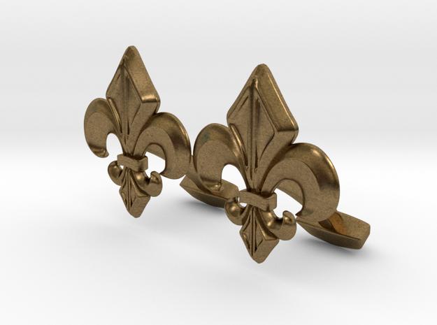 Designer Cufflink in Natural Bronze