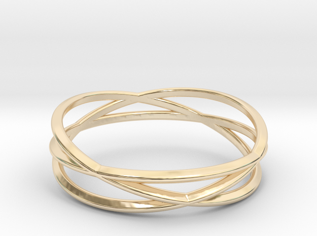 ASNY Tri Swirl Bracelet in 14K Yellow Gold