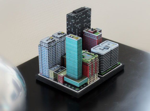 Chicago 80s Style Office Building 3 x 4 3d printed