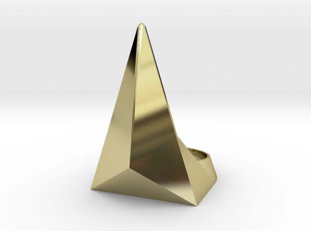 Golden Ratio Triangle Ring: Sz7 3d printed