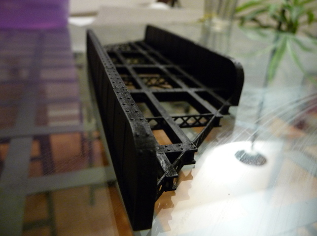 n-scale bridge Double Track Skewed Left in Frosted Ultra Detail