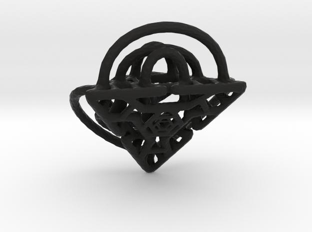 Hammered Split Diamond Pendant 3d printed