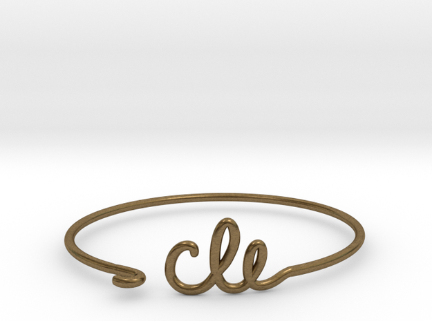 CLE Wire Bracelet (Cleveland) in Raw Bronze