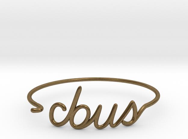 C-BUS Wire Bracelet (Columbus) in Raw Bronze