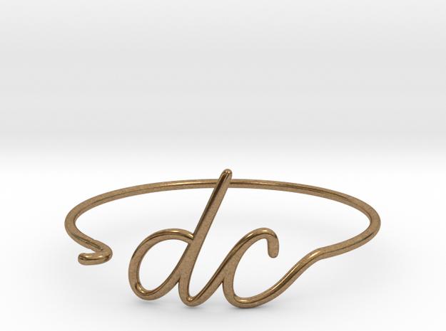DC Wire Bracelet (Washington, D.C.) in Natural Brass