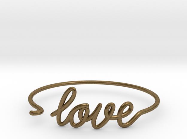 Love Wire Bracelet in Natural Bronze