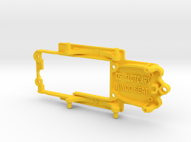 Ninco Seat Leon Cup Chassis ~ Slot.it pod in Yellow Processed Versatile Plastic