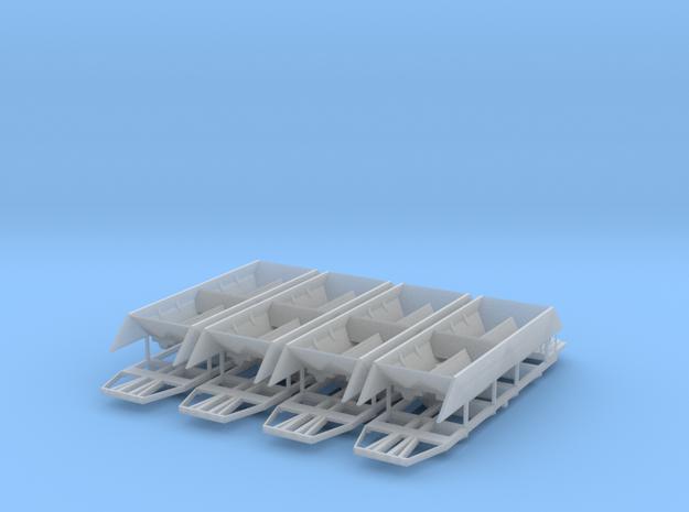 Set Xas TT 1/120 1:120 1-120 V2 Schotterwagen Schw in Smooth Fine Detail Plastic