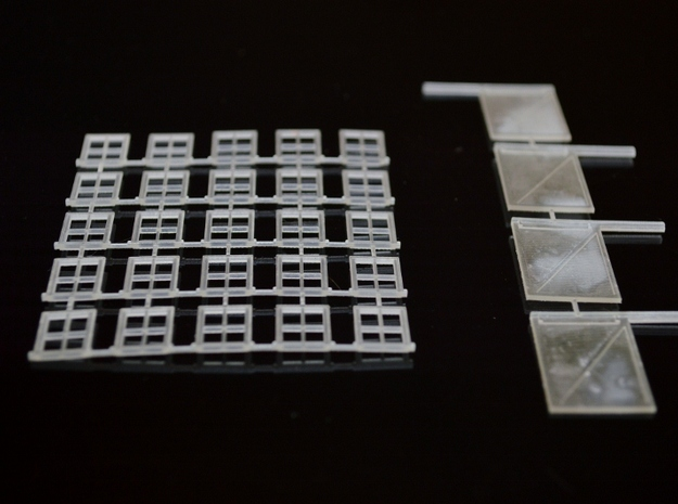 N-Scale Box & Crate Factory Windows & Doors in Smooth Fine Detail Plastic