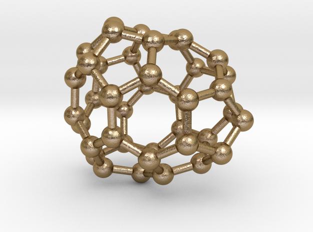 0118 Fullerene C40-12 c1 in Polished Gold Steel