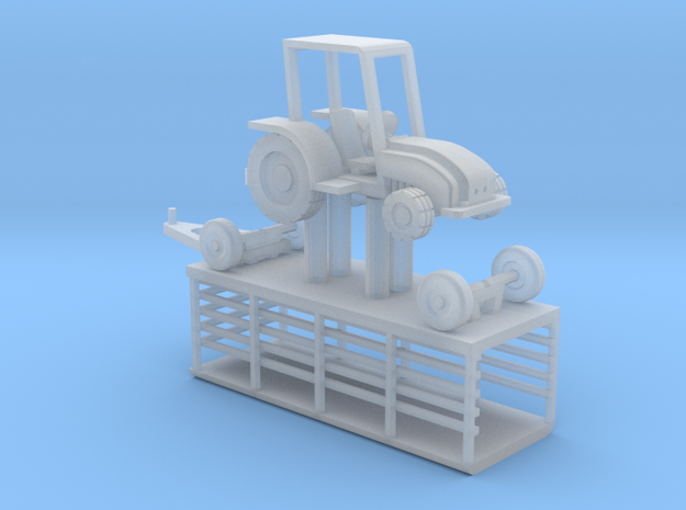007B Tractor & Trailer 1/144 3d printed
