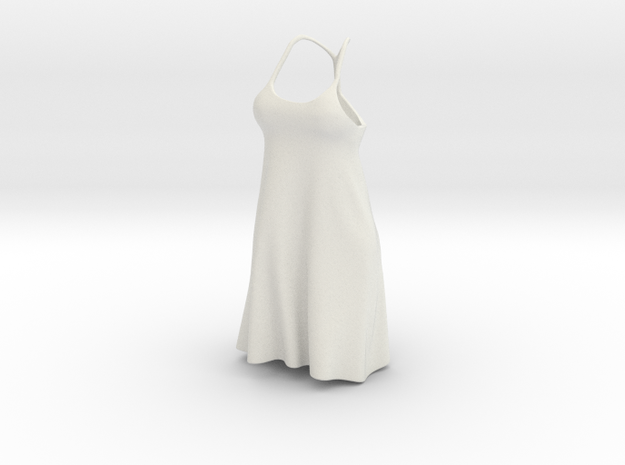 Strappy Little Dress in White Strong & Flexible