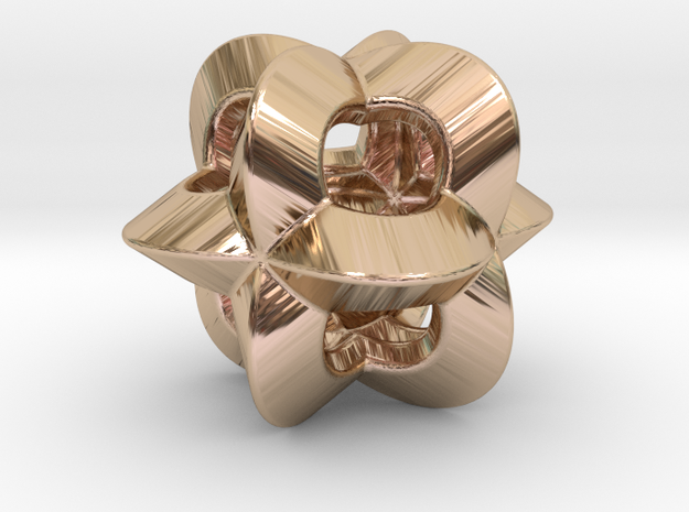 Pendant-c-4-3-10-p1o in 14k Rose Gold Plated Brass