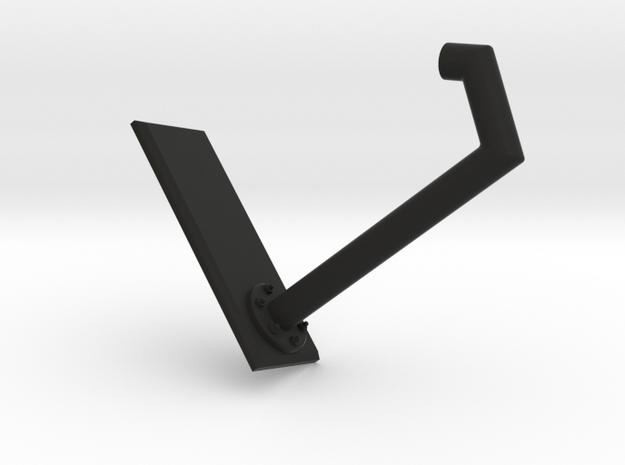 Rail support size 2 in Black Natural Versatile Plastic
