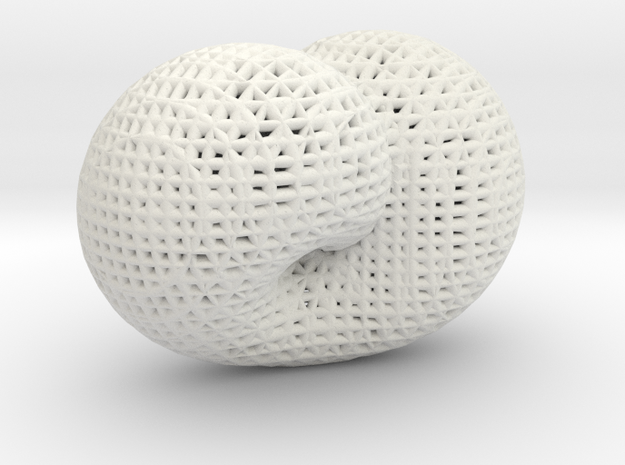 Klein math art in White Natural Versatile Plastic