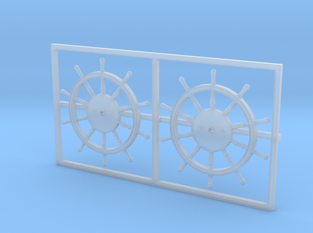 1:84 HMS Victory Ships Wheel 3d printed