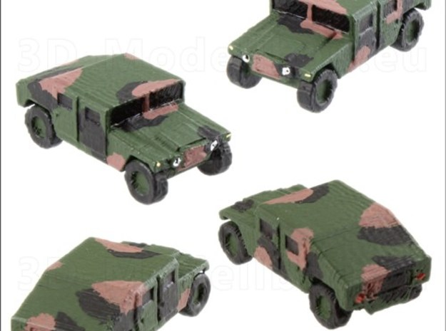 1/200 US Army M1025 Humvee HMMWV Hummer H1 in White Strong & Flexible