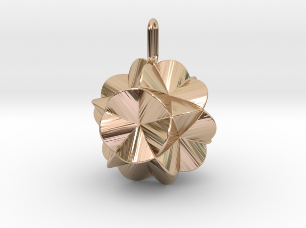 Pendant-c-6-5-20-45 in 14k Rose Gold Plated Brass